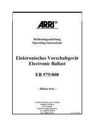 Elektronisches Vorschaltgerät Electronic Ballast EB 575 ... - Cinequipt