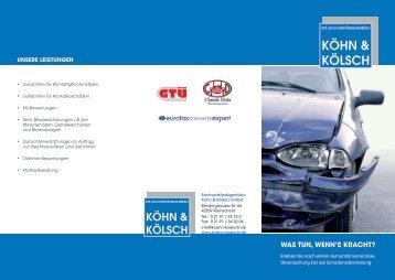Flyer - Kfz-Sachverständigenbüro Köhn & Kölsch