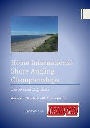 2013 Home International Shore Angling Championships Brochure
