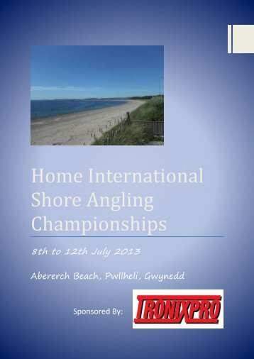 2013 Home International Shore Angling Championships Brochure
