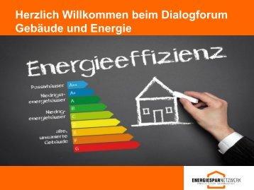 Begrüßung - Energiesparnetzwerk