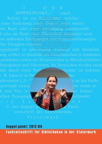 """1 . DER DOPPELPUNKT"""":"""" - Lesezentrum Steiermark"""