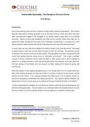 Sustainable Spirituality: The Discipline Of Lectio ... - EA Foundation