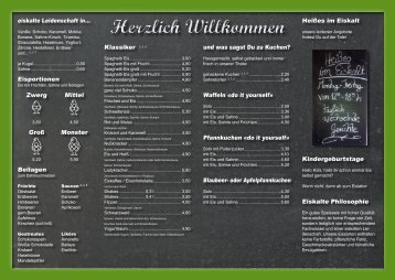 Herzlich Willkommen - Café Eiskalt