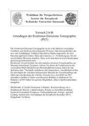 Versuch 2.8-B: Grundlagen der Positronen-Emissions-Tomographie ...