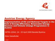Implementation of EU and National Targets in the field of Energy ...
