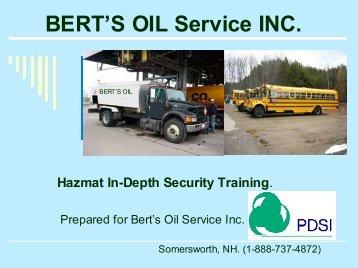 BERT'S OIL Service INC. - NEIWPCC