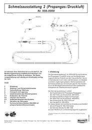 Schmelzausstattung 2 (Propangas/Druckluft) Nr. 956-0000 - laboshop