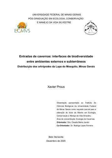 Distribuição espacial e ecologia da comunidade para-epígea ... - ICB