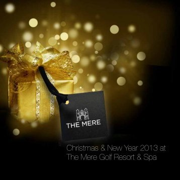 festive brochure - The Mere Golf Resort & Spa