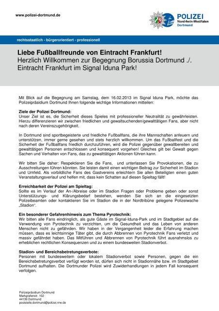 Liebe Fußballfreunde von Eintracht Frankfurt! - Eintracht Frankfurt e.V.