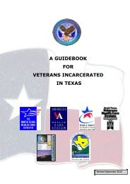 a guidebook for veterans incarcerated in texas - US Department of ...