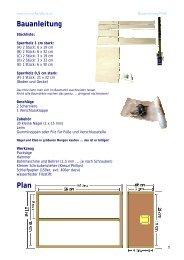 Bauanleitung Plan