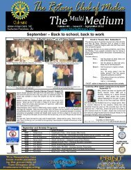 September – Back to school, back to work - Rotary Club of Media