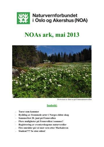 NOAs ark, mai 2013 - Norges Naturvernforbund
