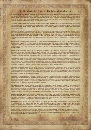 Magie des Ordens (PDF) - Der Orden