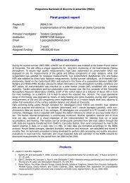 Rapporto sulle attività e sui risultati conseguiti dal 2004 al 2006
