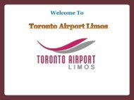 Make Your First Impression Special with Toronto Airport Limo Service