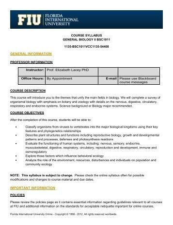 Course Syllabus - Florida International University