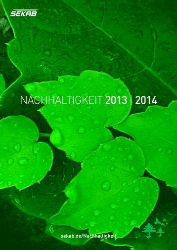 NACHHALTIGKEIT 2013| 2014 - SEKAB