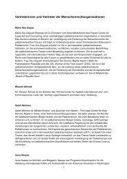 Vertreterinnen und Vertreter der Menschenrechtorganisationen (PDF)