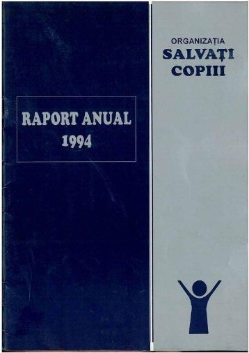Descarcă Raportul anual 1994 - Salvati Copiii