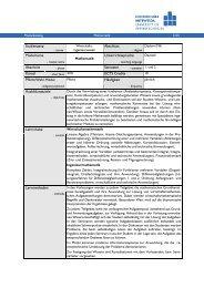 Modulhandbuch - Fakultät Wirtschaftswissenschaften - Hochschule ...