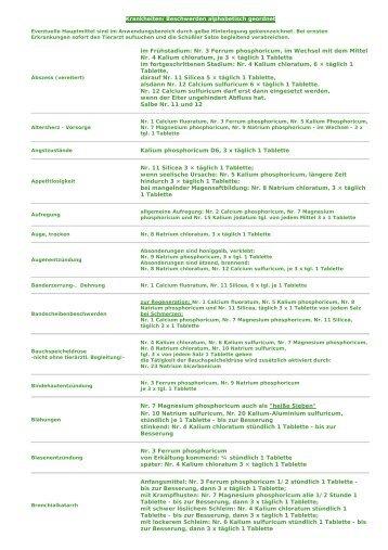 Nr. 3 Ferrum phosphoricum, im Wechsel mit dem Mittel ... - Domenikus