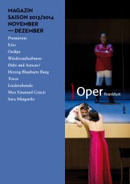 Opernmagazin November / Dezember 2013 - Oper Frankfurt