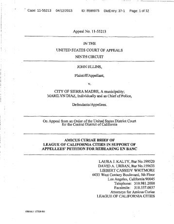 amicus curiae brief of league of california cities in support of ...