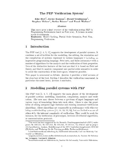 PDF - Foundations of Software Reliability and Theoretical