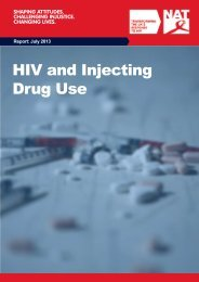 HIV and Injecting Drug Use - National AIDS Trust