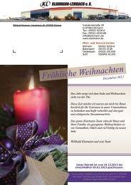 Fröhliche Weihnachten - Klarmann-Lembach