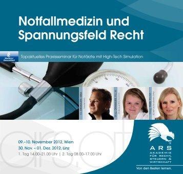 Notfallmedizin und Spannungsfeld Recht - Österreich