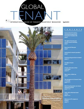 The right to housing and need for tenure neutrality - Tenant Net