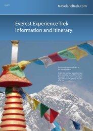 Everest Trekking Experience - Travel and Trek