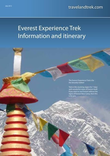Everest Trekking Experience - Travel and Trek