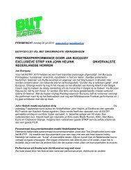 Persbericht 28 juli 2013 - Butff