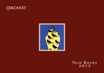 New Books - Carcanet Press