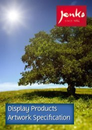 Display Products Artwork Specification - Jenko