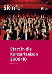 Start in die Konzertsaison 2009/10 - Saarländischer Rundfunk