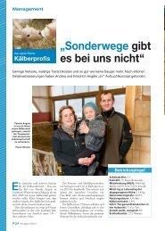 Kälberaufzucht Praxisbericht - LAZBW Aulendorf