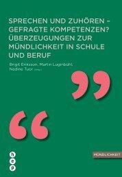 Sprechen und Zuhören - h.e.p. verlag ag, Bern