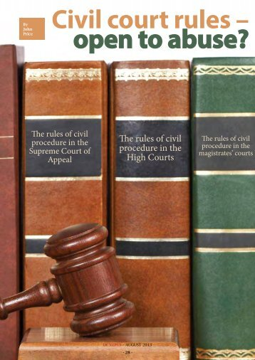 Civil court rules – open to abuse? - Sabinet Reference