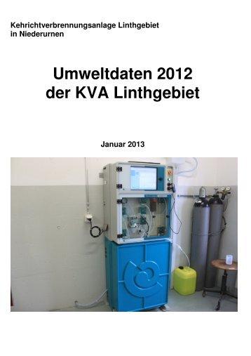 Umweltbericht 2012 des Amts für Umwelt Glarus - KVA Linthgebiet