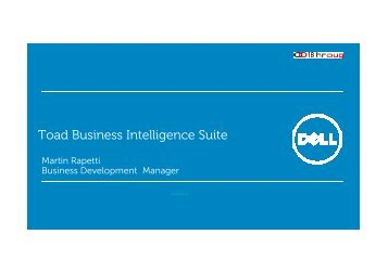 Toad Business Intelligence Suite - HrOUG