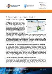 Browser sicher einsetzen - beim eBusiness-Lotsen Ruhr