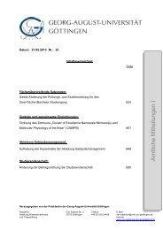 Amtliche Mitteilungen I Ausgabe 23 - Georg-August-Universität ...