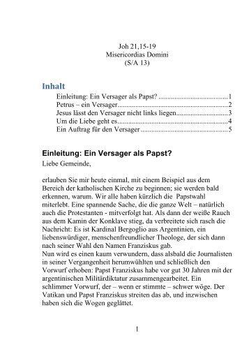 Inhalt - Kirchengemeinden Schönau Altneudorf