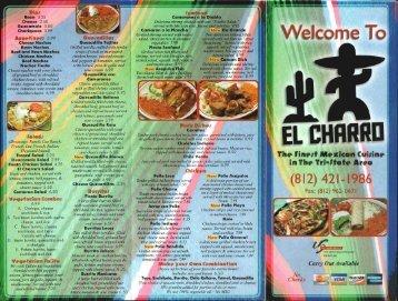 Print a Menu - El Charro!